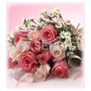 Shaded pink rose Bunch