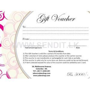ZDEN STORE Gift Voucher Rs.5000/-