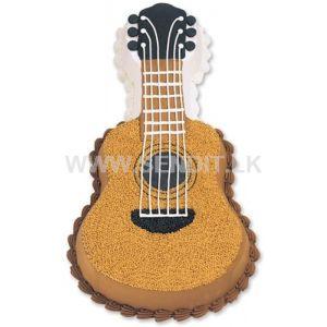 Guitar shaped Ribbon cake