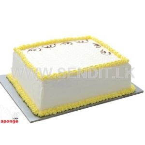 Eggless Ribbon Cake - Sponge