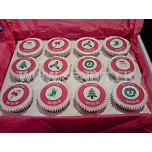 Christmas Gift Pack Twelve Cup cakes Printed